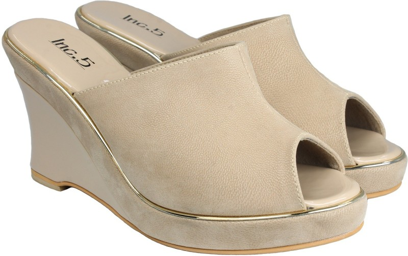 Inc.5 Women BEIGE Wedges