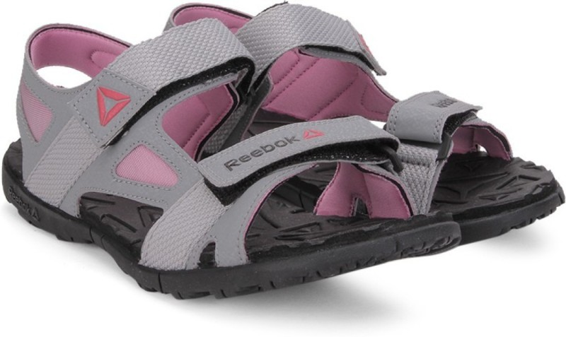 Reebok Women FLAT GREYPINKGRAVEL Sports Sandals