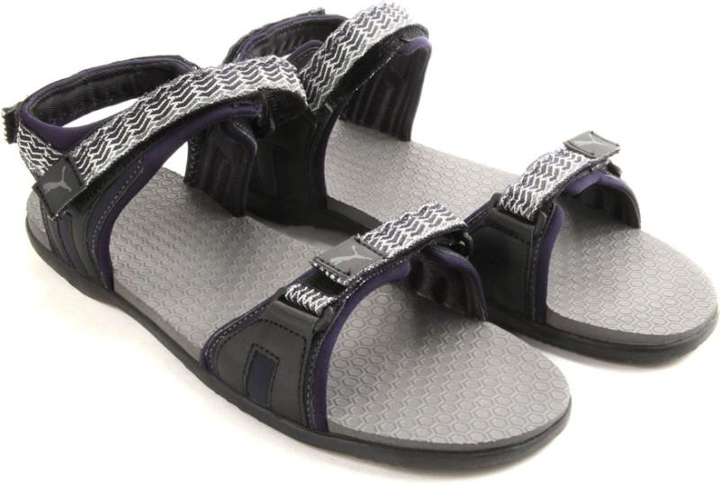 Puma Women peacoat-steel gray-illusion blue Sports Sandals