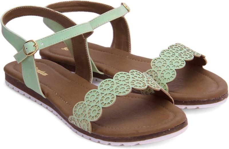 Bata Women Green Flats