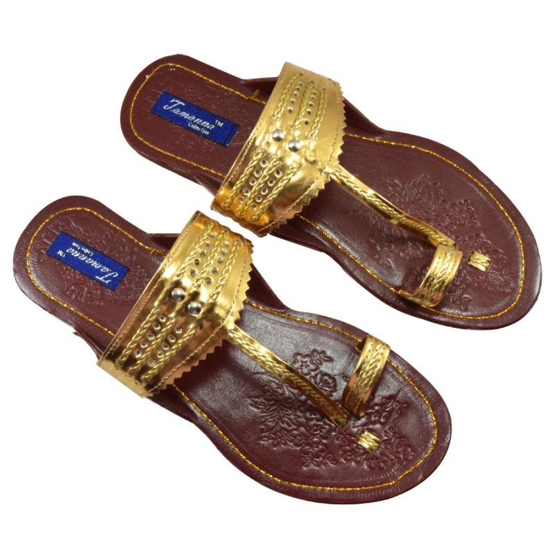 Tamanna Women Gold Flats