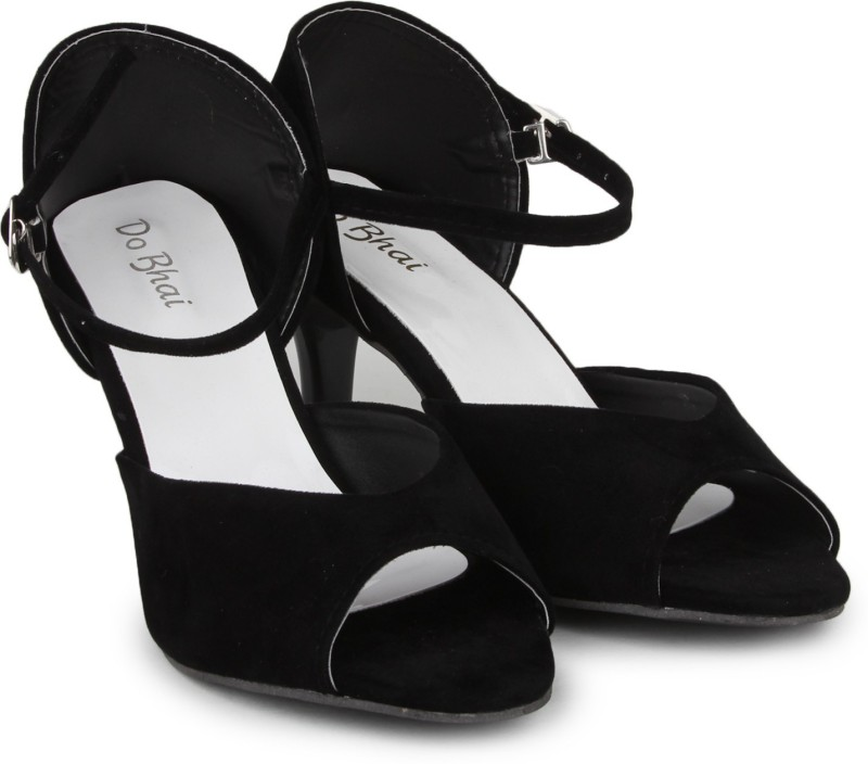 Do Bhai Women Black Heels