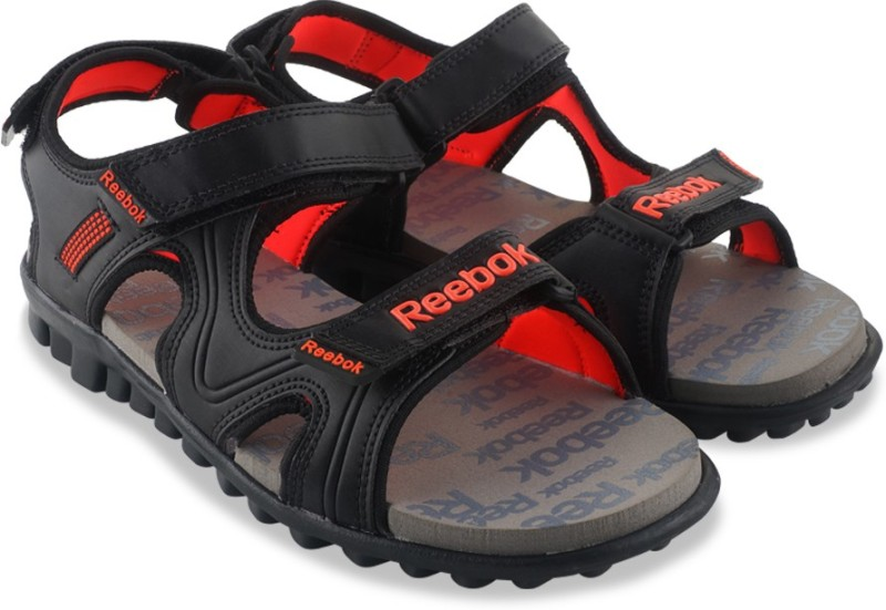 Reebok Women BLACKGRAVELATOMIC RED Sports Sandals