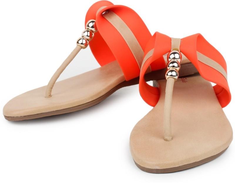 Star Style Women Orange Flats