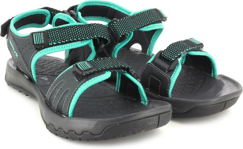 Reebok Women SOLID TEAL GRAVELBLACK Sports Sandals
