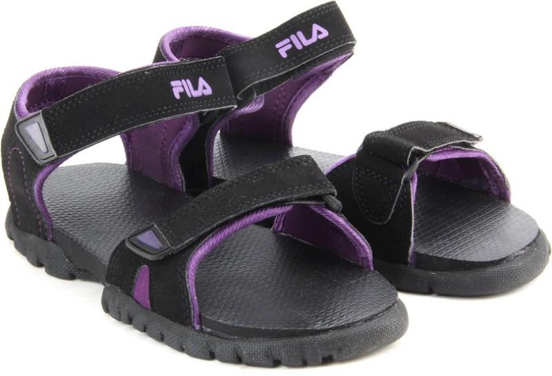 Fila Women BLKPUR Sports Sandals