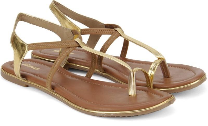 Bata Women Beige Flats