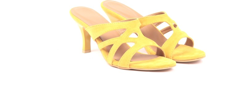 Adorn Women Yellow Heels