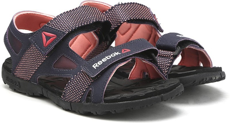 Reebok Women PURPLECORALGRAVEL Sports Sandals