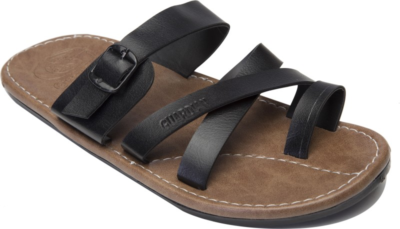 Guardian Shoes Thumb cross style Men Black Sandals