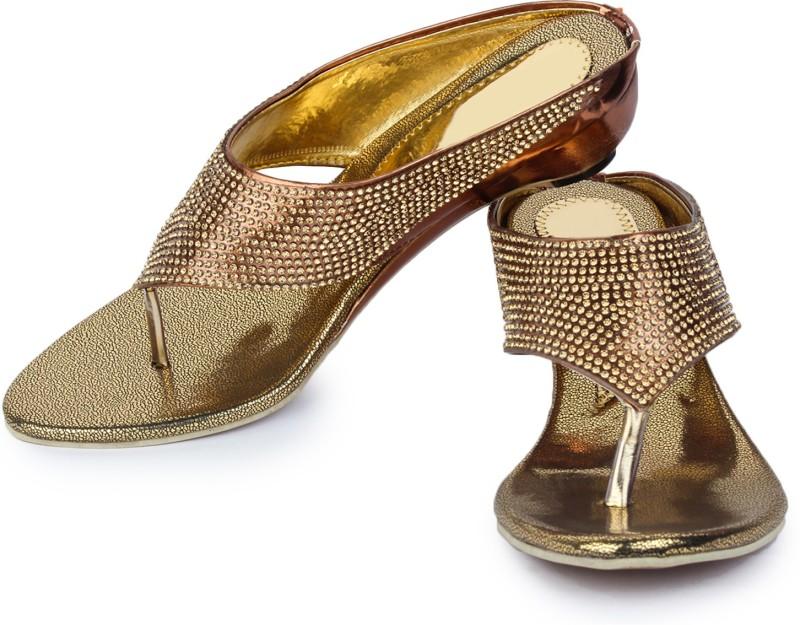 London Steps Women Copper Heels