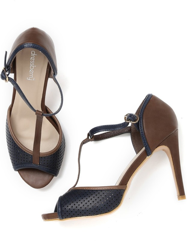 Dressberry Women Navy::Brown Heels