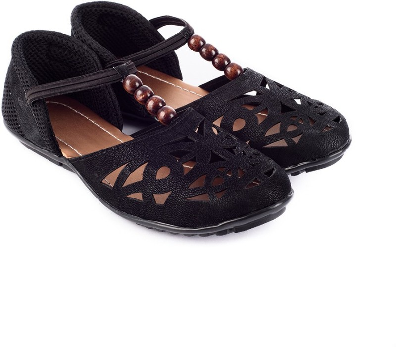 Myra Women Rich Black Flats