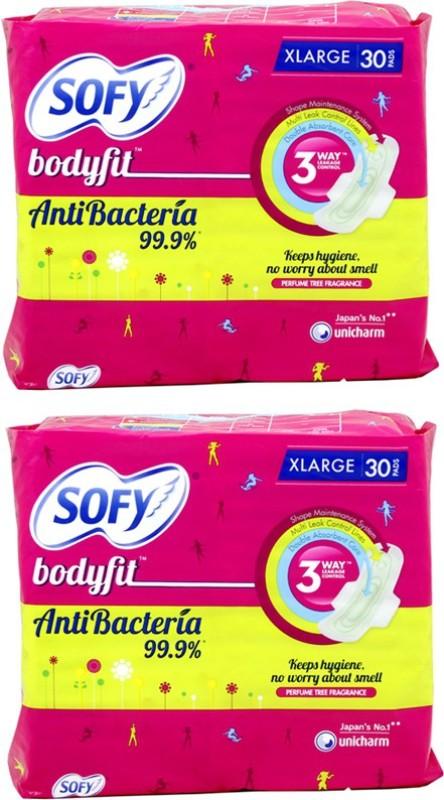 Sofy Bodyfit Anti Bacteria Sanitary Pad(Pack of 30)