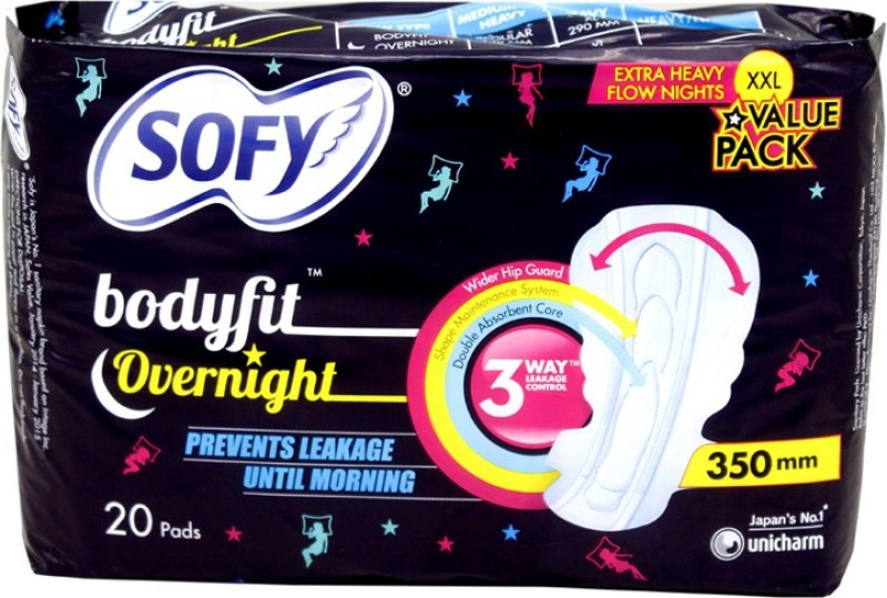 Sofy Body Fit Overnight XXL Sanitary Pad(Pack of 20)