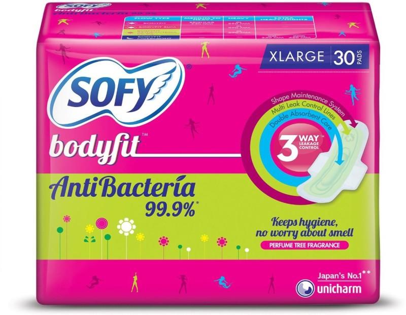 Sofy Antibacterial Sanitary Pad(Pack of 30)