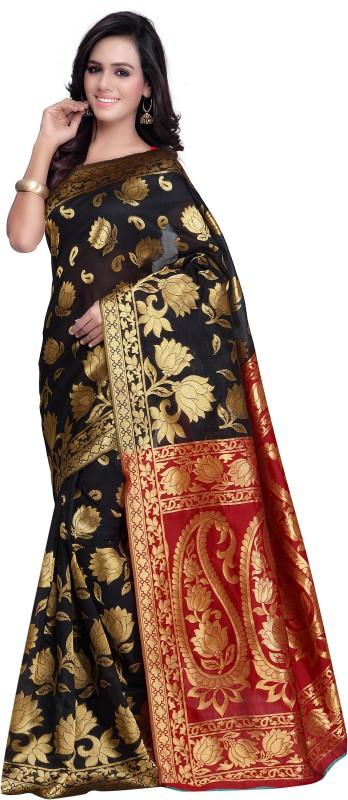 Makeway Woven Bollywood Kota Saree(Black)