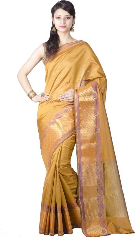 Chandrakala Embellished Banarasi Silk Saree(Gold)