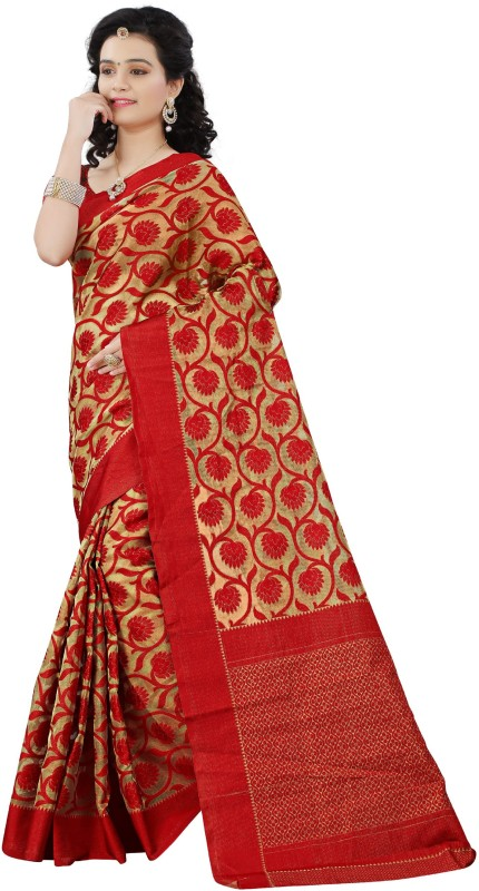Kalaa Varsha Self Design Banarasi Art Silk, Kota Saree(Red)
