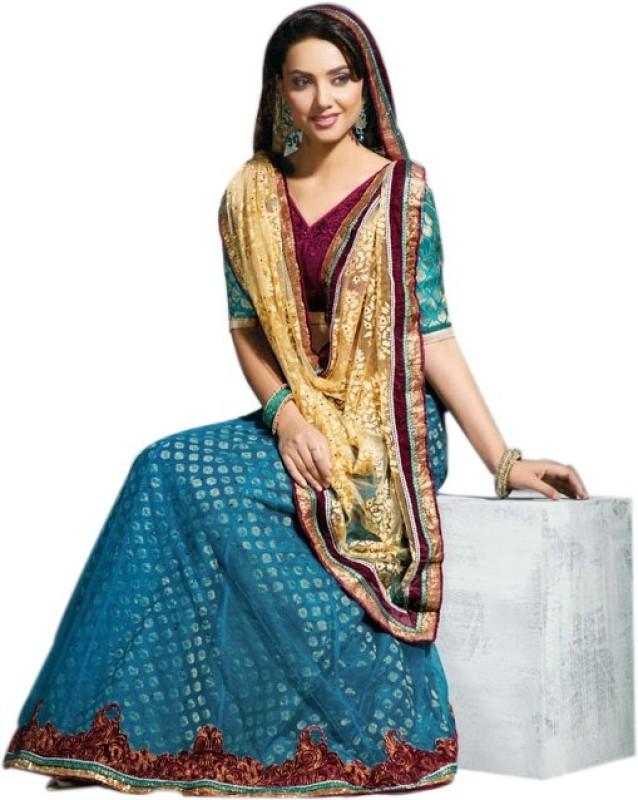 Rajshri Fashions Solid Fashion Jacquard Saree(Beige)
