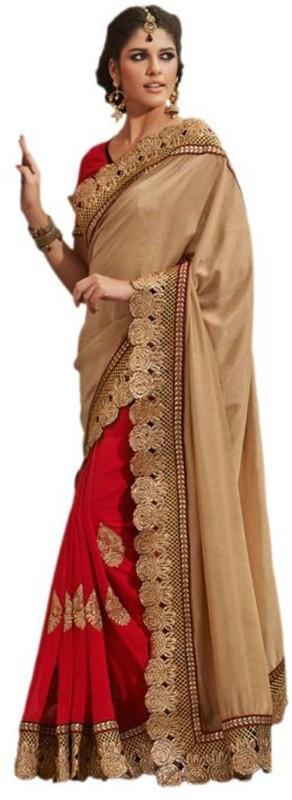 Aksh Fashion Self Design Fashion Chiffon Saree(Red)