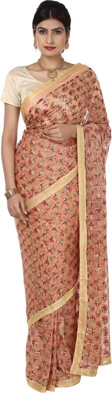 Ethnic Bliss Lifestyles Self Design Fashion Handloom Chiffon Saree(Multicolor)