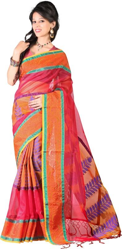 Kalva Embellished Banarasi Tissue Saree(Multicolor)