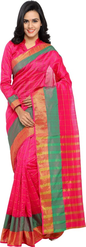 sarvagny clothing Self Design Kanjivaram Kota Cotton Saree(Pink)
