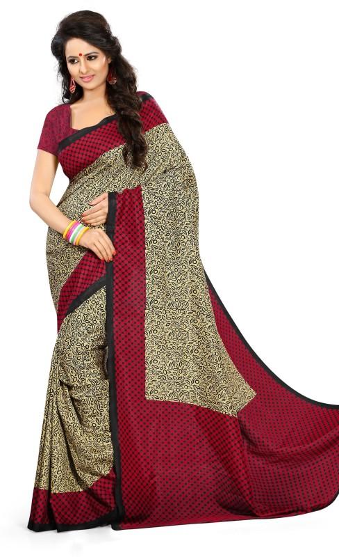 Design Willa Printed Mysore Art Silk Saree(Multicolor)