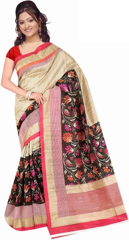 Winza Designer Self Design, Printed, Paisley, Graphic Print, Solid Bhagalpuri Silk Blend, Cotton Blend, Art Silk, Poly Silk Saree(Multicolor)