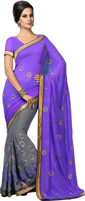Desi Look Self Design Daily Wear Georgette Saree(Multicolor)