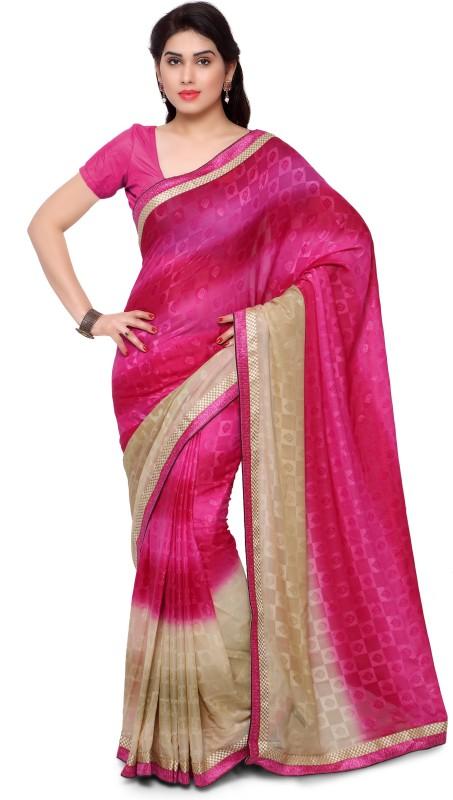 Patiala House Embellished Fashion Poly Viscose Chiffon Saree(Multicolor)