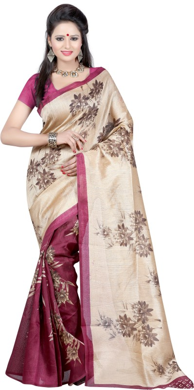 Indrani Striped Bollywood Art Silk Saree(Maroon)