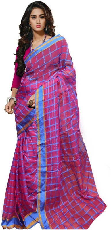 Trendz Printed Fashion Cotton Saree(Pink)