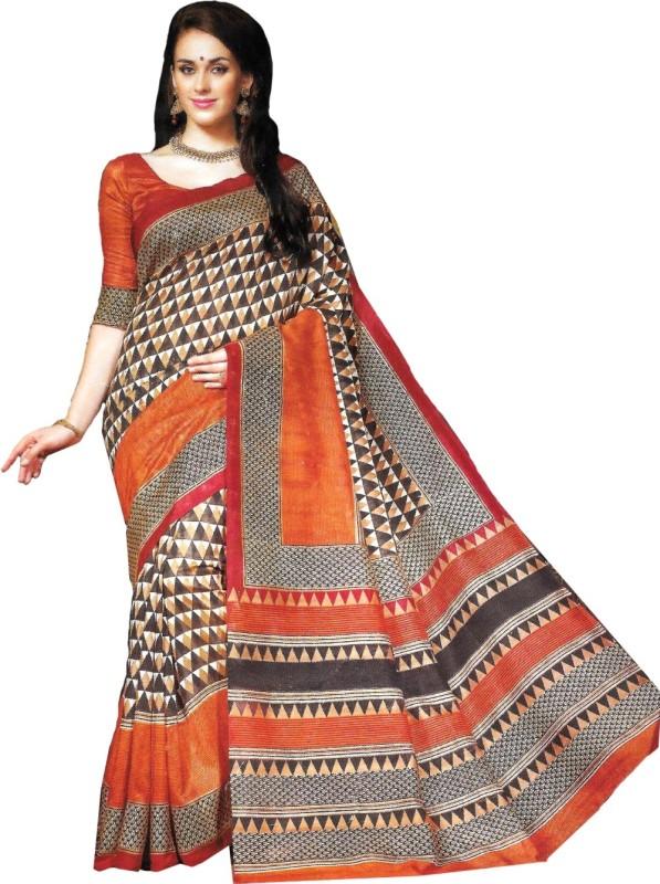Banjaraindia Woven Fashion Handloom Art Silk Saree(Orange)
