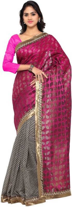Vaamsi Self Design Daily Wear Art Silk Saree(Pink)