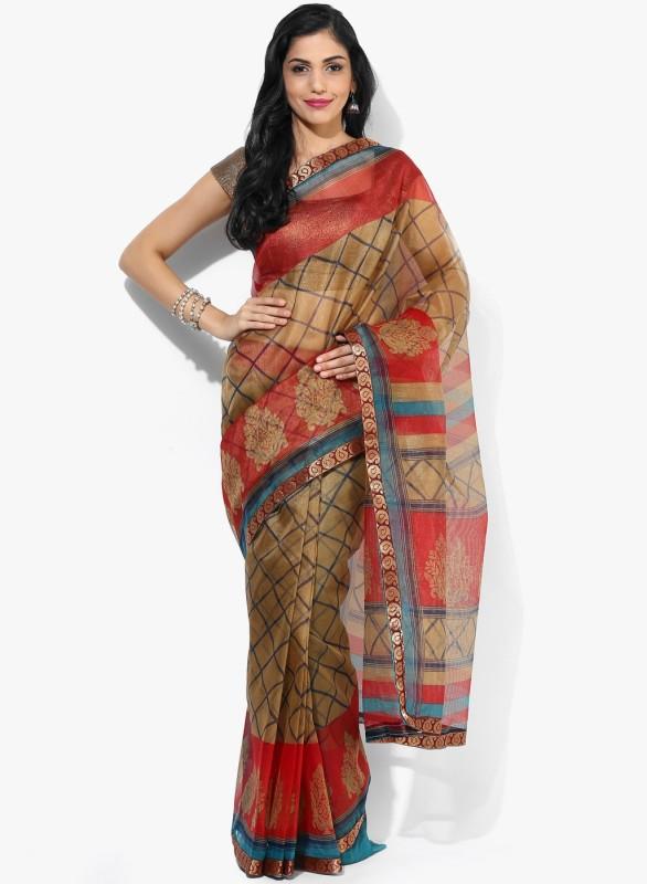 Parchayee Printed Fashion Kota Saree(Beige)