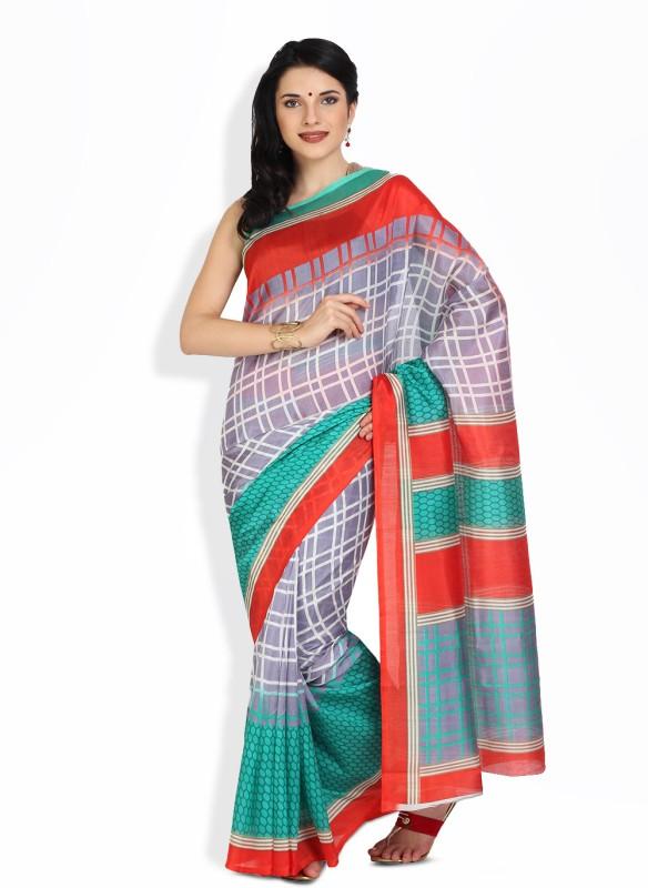 Satrang Printed Fashion Art Silk Saree(Purple)