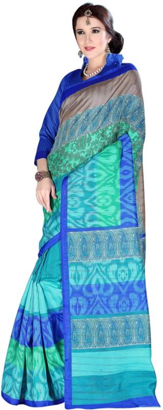 Khushali Self Design, Printed Fashion Art Silk Saree(Multicolor)