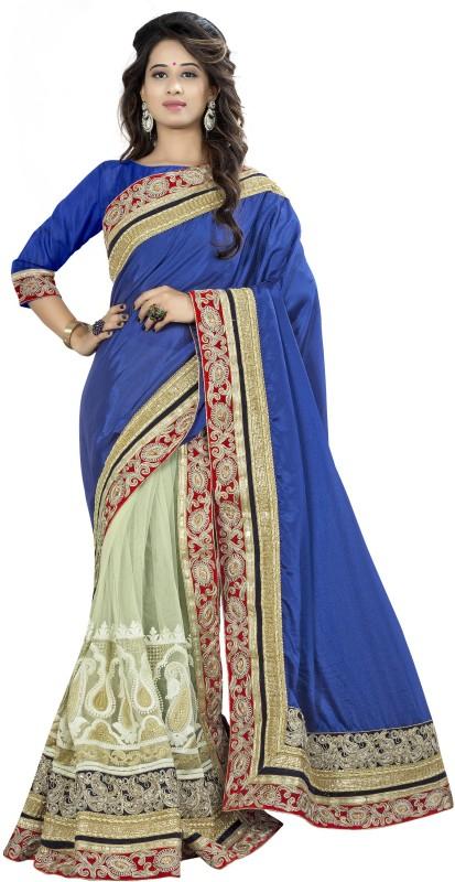 Aai Shree Khodiyar Art Embroidered Bollywood Chiffon Saree(Multicolor)