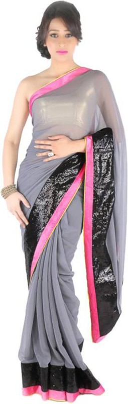 Ram Fashion Self Design Fashion Georgette Saree(Multicolor)