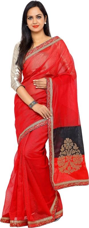 sarvagny clothing Self Design Fashion Saree(Red)
