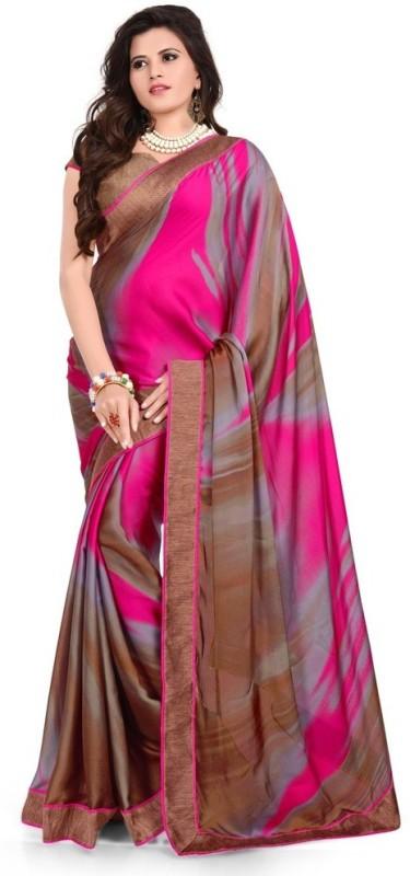 Desi Look Self Design Bollywood Georgette Saree(Pink)