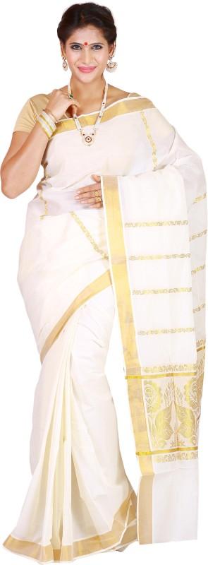 JISB Self Design Coimbatore Cotton Saree(Beige)
