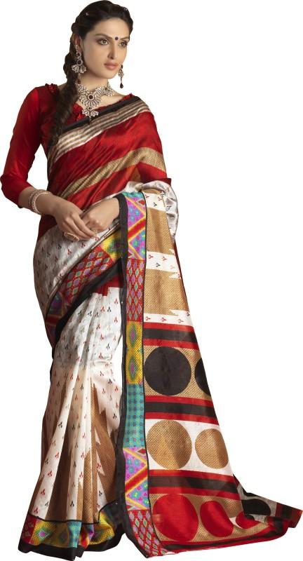 Khushali Self Design, Printed Fashion Art Silk, Jacquard Saree(Multicolor)
