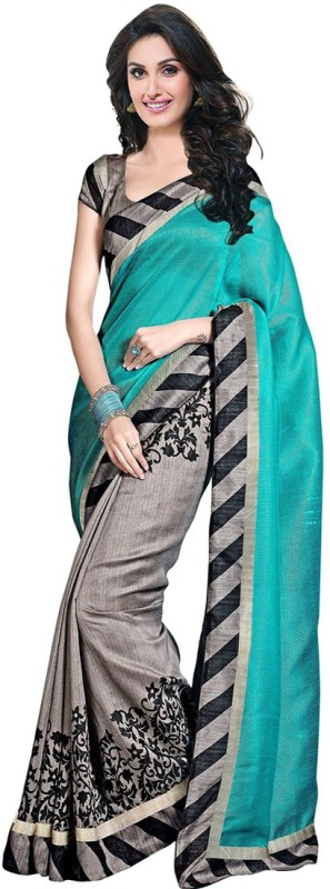 Jhilmil Printed Bhagalpuri Cotton Saree(Multicolor)