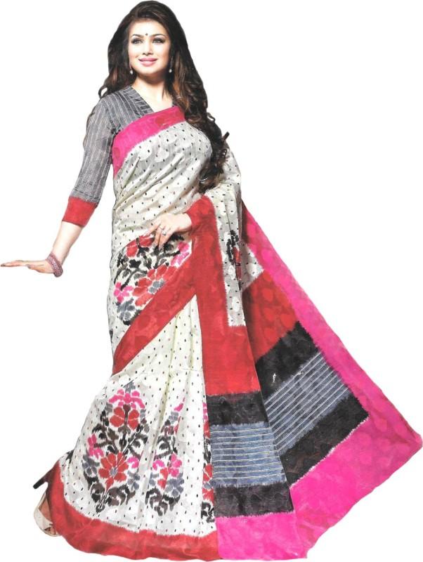 Banjaraindia Woven Fashion Handloom Banarasi Silk Saree(White)
