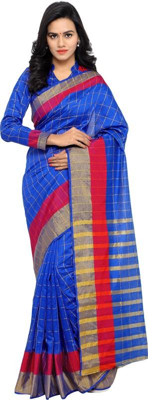 sarvagny clothing Self Design Kanjivaram Kota Silk Saree(Blue)