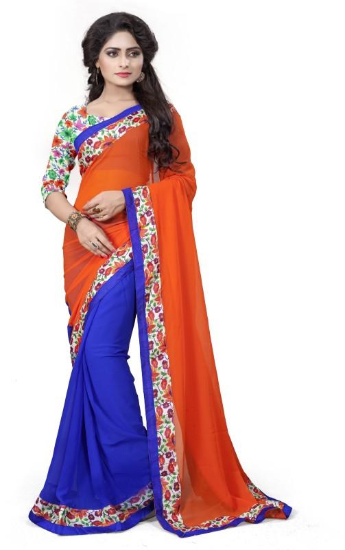 Aashvi Creation Solid Fashion Georgette Saree(Multicolor)