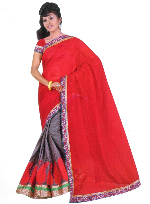 Aryahi Self Design Fashion Jacquard Saree(Beige)